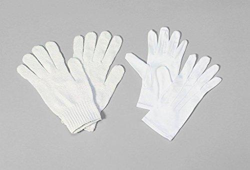 Adult Christmas Halco Santa Claus Suit Deluxe White Cotton Knit Costume Gloves (Velvet Elf Suit Costume)