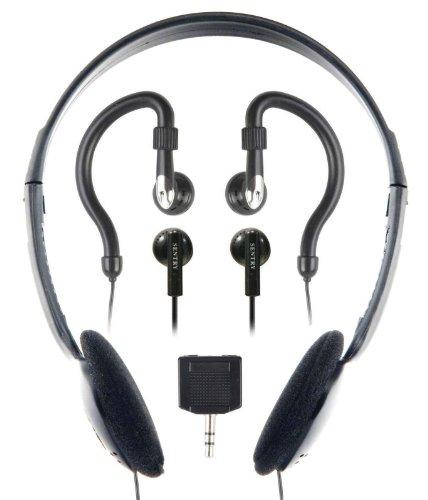 Sentry Ho894 Headphone With 2-Way Splitter Plug - 3 Pack