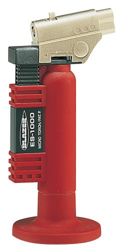 Best Price Blazer ES1000 Angled Head Butane Micro Torch, Red