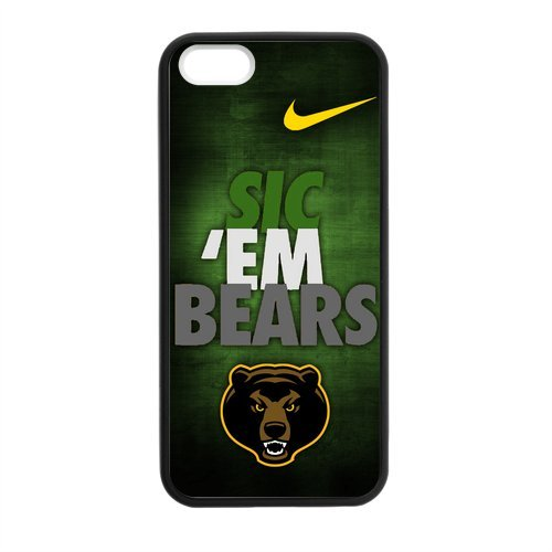 NCAA Baylor Bears Team Judge Bears Green and Gold Best Durable Rubber Silicone Case Apple iPhone 5,5S TPU (Laser Technology) Case Cover at Amazon.com