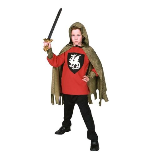Deluxe Medieval Knight Red Child Costume by RG