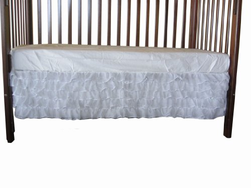 Baby Doll Layered Crib Dust Ruffle, White