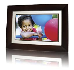 ViewLine 10.1-inch Digital Picture Frame, 16:10 aspect ratio, wood frame with remote control