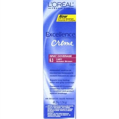 Loreal Excellence Creme Color #6.3 Light Golden Brown 1.74oz