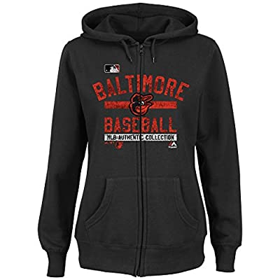 Baltimore Orioles Women's Hoodie Full Zip Hooded Fleece