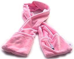 PITI USB Heated Neck Scarf with Warm Pocket Winter Warm Scarf Electric Warmer (pink)