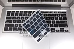 IVEA Keyboard Silicone Cover Skin for New Aluminum Unibody Macbook Pro 13, 15, 17 inches - BLACK
