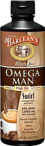 Barleans Organic Oils Mocha Java Omega Man Swirl 8 Oz