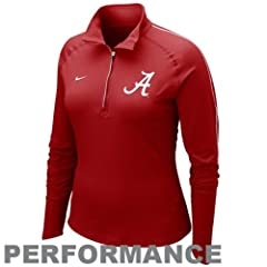 Nike Alabama Crimson Tide Ladies Element Quarter Zip Pullover Performance Long Sleeve... by Nike