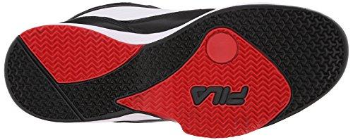 Fila Men's Import-M Basketball Shoe, White/Black/Fila Red, 9 M US