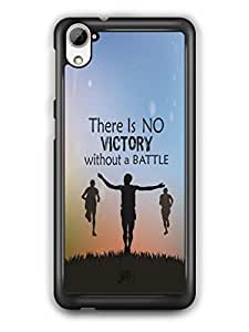 YuBingo No Victory without a Battle Mobile Case Back Cover for HTC Desire 826