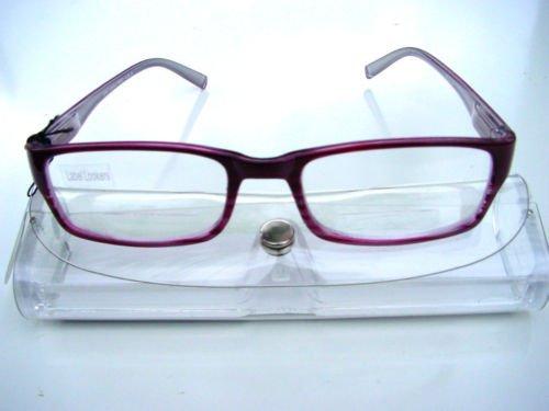 STYLISH BIFOCAL CLEAR READING GLASSES + 3.5 AMETHYST PURPLE R652