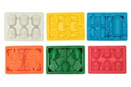 Silicone Ice Cubes Trays Molds for Star Wars Candy Gummy Chocolate Crayon Soap - Set of 6