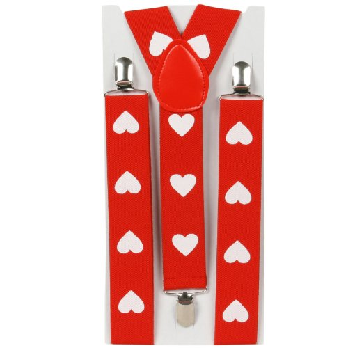 Heart Suspenders (adjustable) Party Accessory  (1 count) (1/Pkg)
