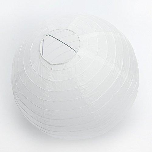 10-Stcke-Papierlaterne-Laterne-Deko-Feier-Lampions-Papierlampen-820cm-wei