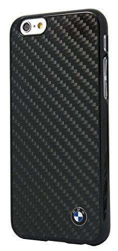 エアージェイ ビーエムダブリュー(BMW) 公式ライセンス品 iPhone6(4.7inch) リアルカーボンバックカバー ブラック BMHCP6MBC