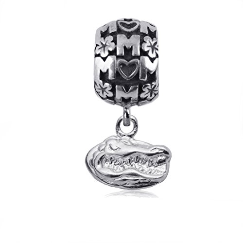 NCAA Florida Gators .925 Sterling Silver Mom Charm Bead, Florida Jewelry