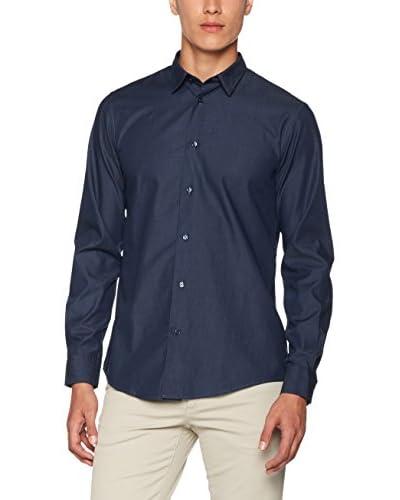 Trussardi Jeans Camisa Hombre Azul Marino