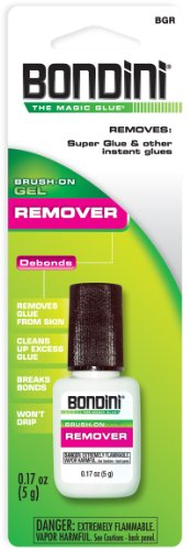 Super Glue Bondini BGR-6 Brush-On Glue Remover, 6-Pack(Pack of 6) (Bondini Remover compare prices)
