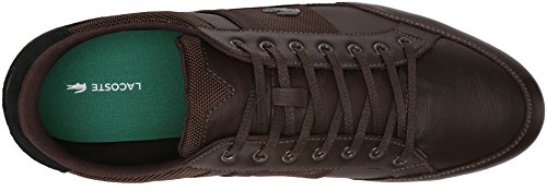Lacoste Men's Chaymon 116 1 Spm Fashion Sneaker Fashion Sneaker, Dark Brown/black, 8 M US
