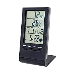 Digital Clock, EverPlus Digital Clock and Weather Station with Thermometer, Hygrometer,Temperature/Humidity Meter Gauge Calendar Alarm Clock Snooze all in one (1D)