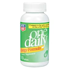 Rite Aid Energy Formula, One Daily, Tablets, 50 ea