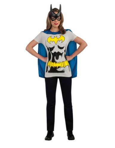 Batgirl Sexy Shirt Lg Adult Womens Costume
