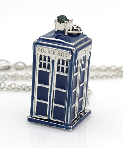 Dr-Who-Necklace-Tardis-Charm-Whovian-Fan-Phone-Booth-Police-Call-Box-Geekery-Jewelry-Geek-Jewelry-ASB