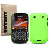 "Fluro Green Blackberry Bold 9900 ""Covert"" Branded Rubber Back Cover / Case / Shell / Skinby Covert"