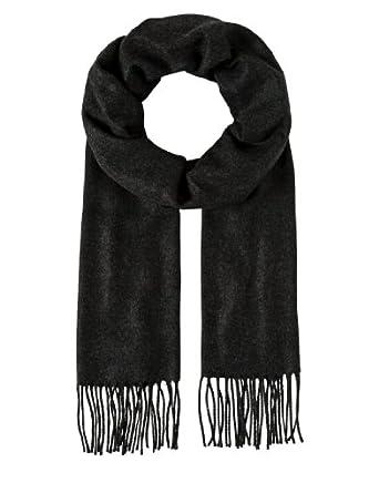 VB Scarf, classic - uni coloured - fringed, soft like cashmere,anthracite