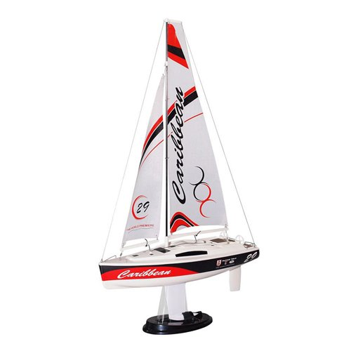 Joysway Caribbean Mini Sailing Yacht RC Sailboat (Red) RTR Ready to