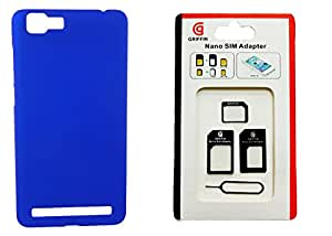XUWAP Back Hard Case Cover With Sim Adapter For Vivo X5 Max - Blue