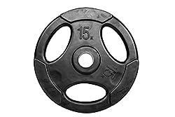 Shakunt Steel Weight Lifting Plate, 15 kg (Black)