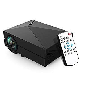 ERISAN Updated Pro Mini LED Projector LCD 1000 Lumens Multimedia Beamer Portable Home Movie Theatre Game Projectors from ERISAN