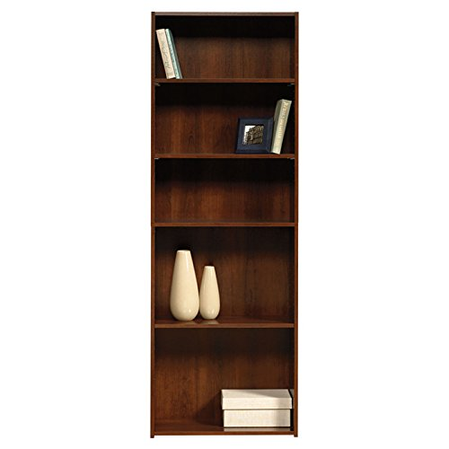 Sauder Beginnings 5-Shelf Wooden Freestanding Traditional Bookcase In Brook Cherry back-984734