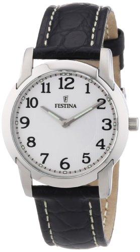 Festina F16507/1 - Reloj analógico de cuarzo para mujer con correa de piel, color negro