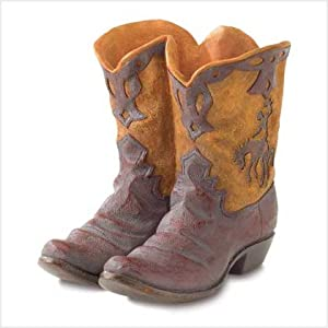 Click to buy Wedding Reception Decoration Ideas: Western Cowboy Boot Vase from Amazon!