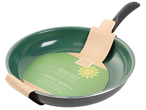 Gibson Home 62410.01 Hummington  10-Inch Ceramic Non-Stick Fry Pan, Green