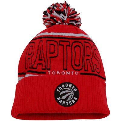 NBA Toronto Raptors Men's Energy Stripe Cuffed Knit Pom, One Size, Red (Nba Clothing compare prices)