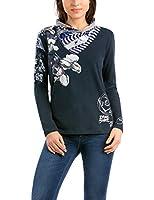 Desigual Laura - T-shirt - Imprimé - Manches longues - Femme