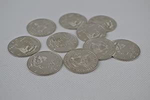 Palming Coins(Half Dollar Version) 10pcs/pack, magic trick coins, coin magic accessory