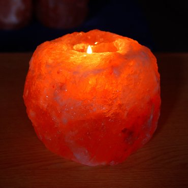 Indus Classic 100% Pure Himalayan Rock Crystal Natural Tea Light Candle Holders Lamps , 2 Lbs Each Great Product Natural SPA Massage