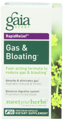 Gaia Herbs Gas & Bloating, 50 Dietary Supplement Capsules