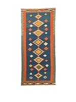 RugSense Alfombra Persian Ardebil Extra Azul/Naranja/Verde 298 x 87 cm