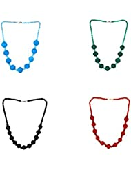 Aradhya Elegant Casual Wear Red,Black,Green And Blue Colour Beads Necklace For Women And Girls