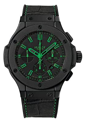 Hublot All Black and Green Carat Mens Watch 301CI1190GRABG11
