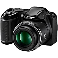 Nikon Coolpix L340 20.2MP Point And Shoot Digital Camera with 28x Optical Zoom, 8GB Card and Camera Bag (Black)