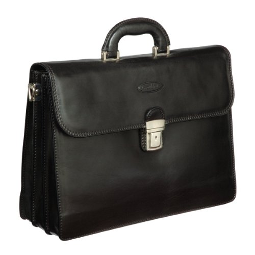 Luxury Black Quality Briefcase (Paolo3)