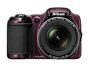 Nikon Coolpix L820 Fotocamera Digitale 16 Megapixel, Zoom Ottico 26x, Monitor LCD da 7.6 cm (2,7 Pollici), Stabilizzatore d'Immagine, Colore Viola Scuro