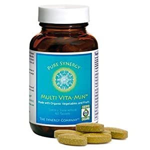Pure Synergy Organic Wholefood VitaMin Multi 60 Vegetable Tablets by The Synergy Company